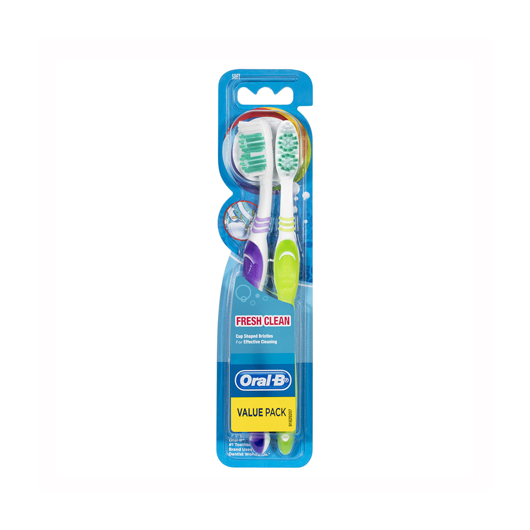 1oral B Fresh Clean Soft Toothbrush 2pk Thehouseofmouth Copy